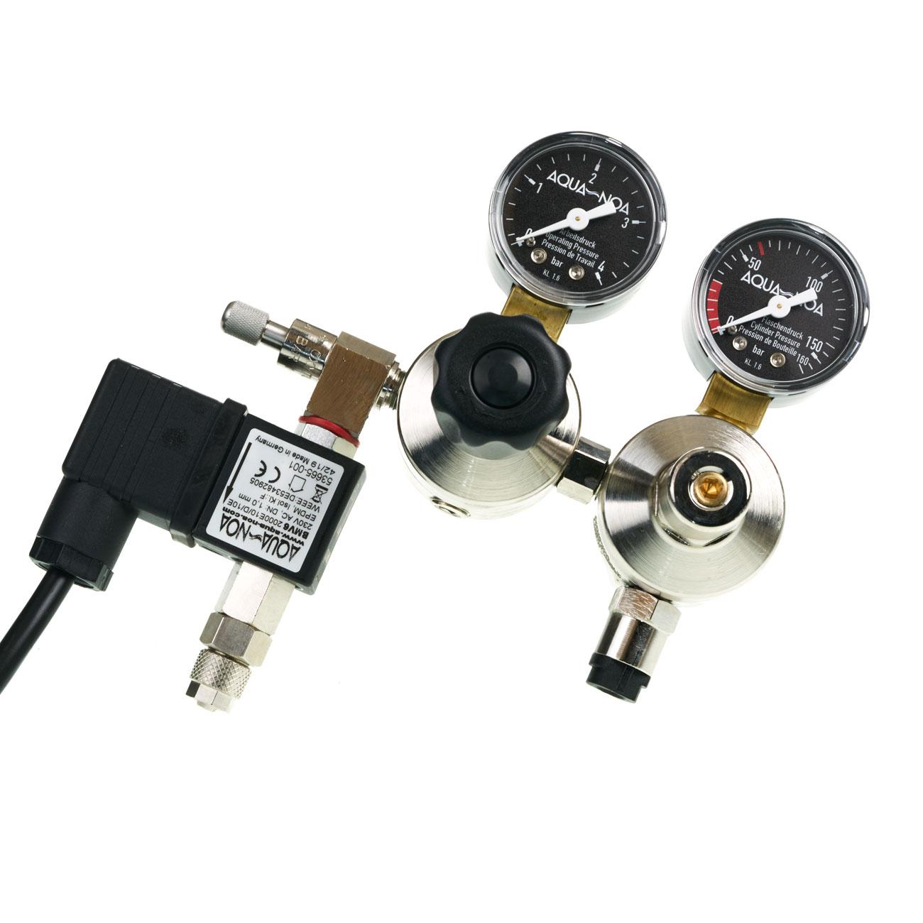 CO2 Doppelkammmer Druckminderer mit CO2 Nachtabschaltung