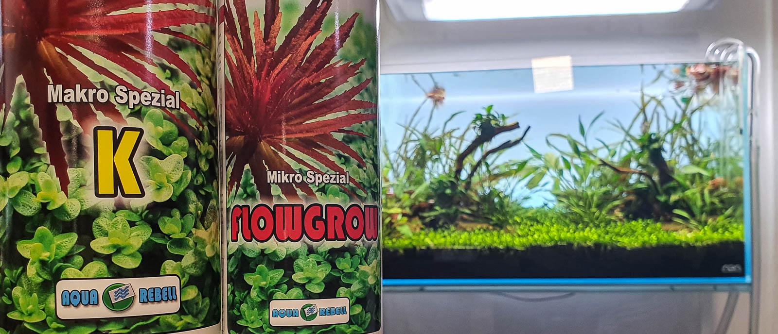 Limitierte Düngung mit Aqua Rebell Kalium Spezial und Flowgrow